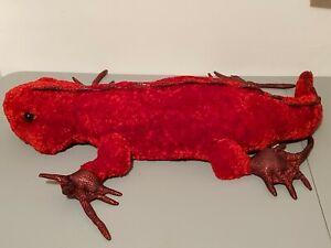 Vintage DanDee Dan Dee Jumbo Red Iguana Plush. Very Good Condition