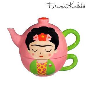 Sass & Belle Frida Kalho Tea For One Set Pink Ceramic Pot & Cup Solo Teapot