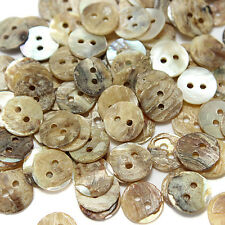 100Pcs Mother of Pearl Round Shell Sewing Buttons 8mm,10mm,12.5mm,15mm,18mm,20mm