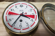 Smiths Astral - Great Britain - Maritime Ships Clock - Brass Fancy Face Red