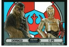 Star Wars Evolution STAINED GLASS Insert Card #7 / CHEWBACCA & C-3PO