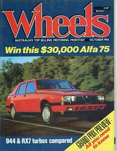 Wheels Magazine - October 1986 - Good condition for age - lots of good content