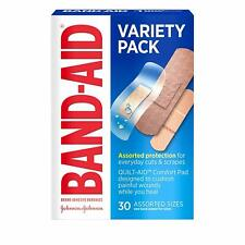 Band-Aid Brand Variety Pack, Clear, Tough, & Sport Adhesive Bandage 30 Count