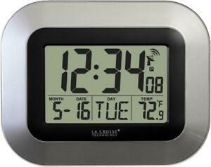 *HOT TECH* La Crosse Technology WT-8005U-S Atomic Digital Clock w/ Indoor Temp