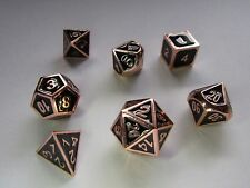 Gothic Copper Metal Dice Set: Pathfinder Dungeons and Dragons, D&D, d20, dnd