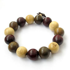 Wood Sandalwood Boxwood Beads Tibet Buddhist Prayer Bracelet Mala