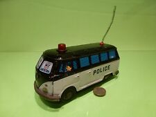VINTAGE TIN BLECH VW VOLKSWAGEN T1 BUS  - POLICE - GOOD CONDITION