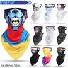 Ice Silk Motorcycle Balaclava Neck Gaiter Tube Bandana Scarf Face Cover Shield
