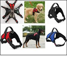 Dog Harness Collar Lead Adjustable Padded Resistant Non Pull Vest Puppy UK DH3
