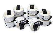 10x 400 Etiquettes Standard 38mm x 90mm pour Brother P-touch QL-700