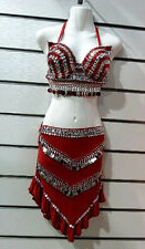 Sexy Women's suit Belly Dance  egyption handmade Embroidered sequined and beaded