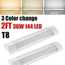 36w Led Batten Tube Light Dimmable 2ft Ceiling Surface Mount Office Fixture Us