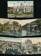 CORONATION Exhibition 1911 London x5 PPCs by Valentine