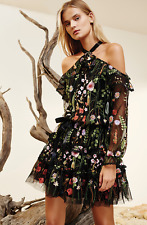 AUTHENTIC Alexis Adeline Floral Embroidered Dress Black (Small  Medium  Large)