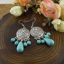 New Cute & Fun Tibetan Silver Turquoise Bead Chandelier Dangle Drop Earrings