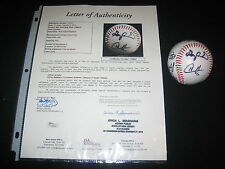 METS STARS (8) SIGNED AUTOGRAPHED BASEBALL GARY CARTER, WILSON, OJEDA + JSA LOA