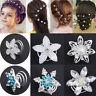 10Pcs Wedding Bridal Hair Pins Crystal Twists Coils Flower Swirl Spiral Hairpins