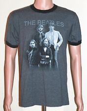 Official BEATLES Apple Brand Ringer T-Shirt - MEDIUM - Lennon McCartney Harrison