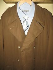 Giorgio Armani Mens Brown Double Breasted Insulated Long Suit Coat Jacket Sz 40