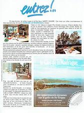 Publicité Advertising 107 1980  Clos de la Madrague appartements golfe St Tropez