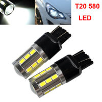 2×T20 580 582 7443 LED DRL Bulbs Sidelight For Vauxhall Insignia CORSA D ASTRA