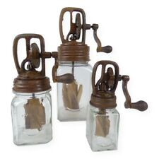 Rustic Country Butter Churn Reproduction -Primitive Decor- Set of 3 (Sm,Med.,Lg)