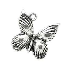 Butterfly Charm/Pendant Tibetan Antique Silver 18mm  10 Charms Accessory Crafts