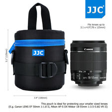 Jjc 78x125mm Deluxe Lens Pouch Case Bag with Strap for Canon Nikon Sony Cameras