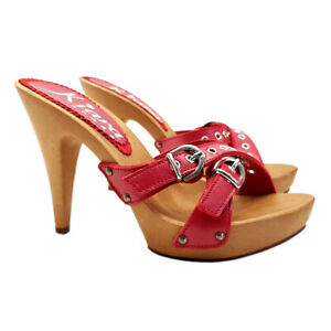 Mule Women's With Buckle Adjustable - K21331 Red