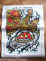 Affiche de Hervé Di Rosa signé dans la planche. Canton de Capestang