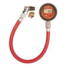 Medidor de Presión de Neumáticos Longacre Estándar - 2 Pulgadas - 14 pulgadas Manguera Flexible - 0-60Psi