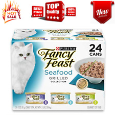 New listing Purina Canned Wet Cat Food Seafood Variety Pack Flavor, (24) 3 oz. Cans
