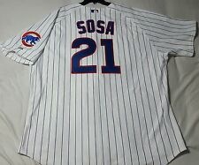 Authentic! Majestic, 60 4XL CHICAGO CUBS PINSTRIPE, SAMMY SOSA, ON FIELD JERSEY