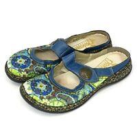 Rieker Anti-Stress Floral Mule Clog Slip On Mary Jane Shoes Women's Sz 38 7-7.5M