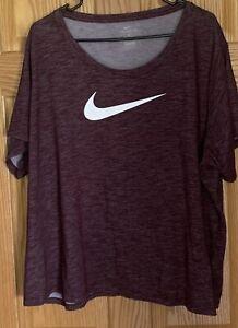 NIKE Dri-Fit Maroon Shirt Women's Size 3X