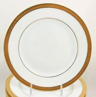 "MINT 8 5/8"" PLATE ROBERT HAVILAND PARLON LIMOGES MALMAISON RAISED GOLD ENCRUSTED"