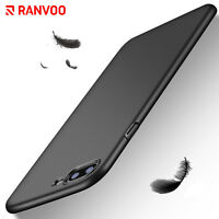 RANVOO For iPhone X 8 7Plus Case Thin Shockproof Matte Hard PC Black Shell Cover