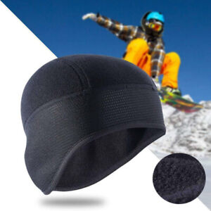 Cold Weather Fleece Skull Cap Beanie with Ear Cover for Running Cycling Skiing