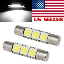 2x Ultra White 3 SMD Fuse LED Light Visor Vanity Mirror 6641 6614F Interior Bulb