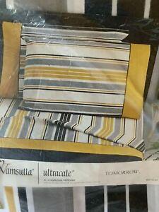 New Retro Vintage WAMSUTTA Tomorrow Twin Flat Sheet 50/50 blend Stripe USA Made