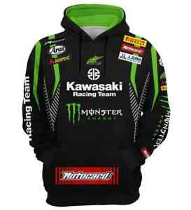 Herren Kapuzenpullover KAWASAKI Racing Team Hoodie Gr.XL