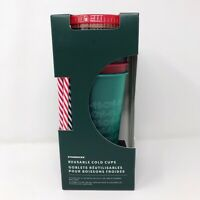 Starbucks Holiday Christmas 2019 Reusable Cold Cups w/ Lids Straws 5 Pack Ltd Ed