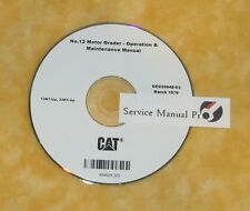 GEG00848 Caterpillar 12 Motor Grader Operation Maintenance Manual CD