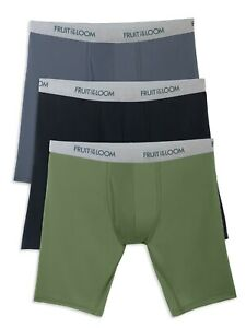 Men's Fruit of the Loom, Ever Light, Tag Free Boxer Briefs, S (28-30), 7 Pair