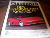 Car and Driver March 1990 Lamborghini Countach