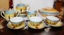 Vintage JAPAN Lusterware Full Tea Set With Bonus Casserole dish  15 Pieces