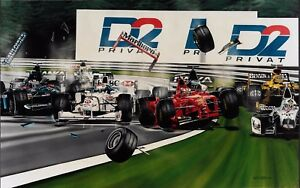 Couthard and Irvine  78x54 cms limited edition  F1 art print by Colin Carter