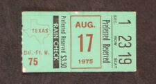 August 17, 1975  Preferred Reserved Texas Rangers Ticket Stub