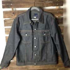 QUICKSILVER Men's Blue Washed Denim Jacket Size M, New No tag Yellow Stitching