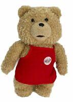 Ted Bear Plush Toy Soft Stuffed Teddy Cute Red Apron Movie 12 inch